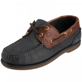 Quayside Clipper Shoes Navy/Chestnut